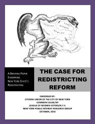 Redistricting Report - Citizens Union