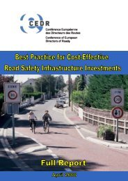 Best practice for cost-effective road safety infrastructure - CEDR