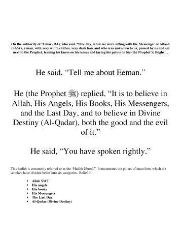 He (the Prophet ) replied - Qabeelat Wasat