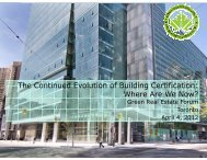 The Continued Evolution of Building Certification - Real Estate Forums