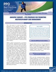 Bariatric Surgery – PPO StrategieS fOr PrOmOting ... - Aappo