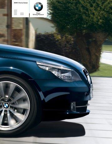 Sheer Driving Pleasure BMW 5 Series Sedan 523i 525i 530i 520d ...