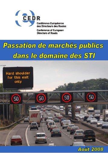 marchés publics de STI - CEDR
