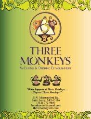 (after 5 pm) * Cole Slaw Potato Salad * Fried Corn ... - Three Monkeys
