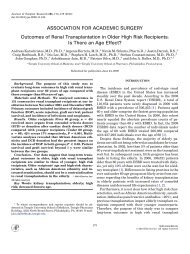 Outcomes of Renal Transplantation in Older High Risk Recipients: Is ...