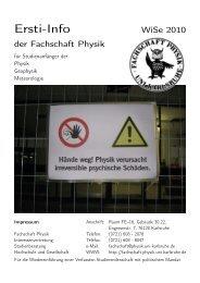 Ersti-Info Ersti-Info - Fachschaft Physik