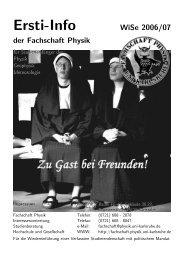 WS 2006/07 - Fachschaft Physik