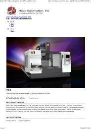 Haas VM-3 | Haas Automation, Inc. | CNC Machine Tools