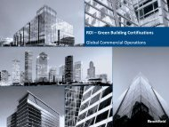 ROI – Green Building Certifications Global Commercial Operations