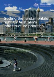 Getting the fundamentals right for Australia's infrastructure priorities