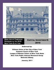 analysis of campaign spending in the 2010 new ... - Citizens Union