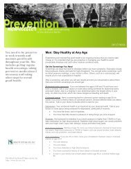 Men: Stay Healthy at any Age 101712 - Benefit Specialists, Inc.