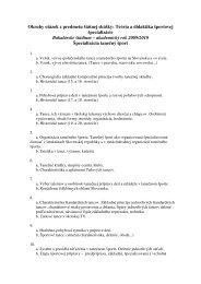 Okruhy otázok z predmetu štátnej skúšky: Teória a didaktika ...