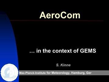 AeroCom - GEMS
