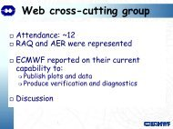 Web cross-cutting group - GEMS