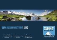 BERGREISEN WELTWEIT 2013 - DAV Summit Club