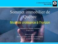 Sommet immobilier de Québec - Real Estate Forums
