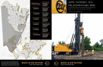 APE DHJ-85 Piling Rig Brochure - American Piledriving Equipment