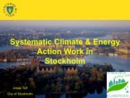 Systematic Climate & Energy Action Work in Stockholm - geo.power