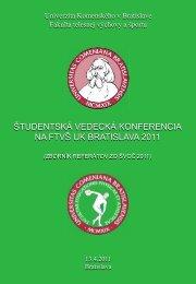 Zborník referátov zo ŠVOČ 2011 - Fakulta telesnej výchovy a športu