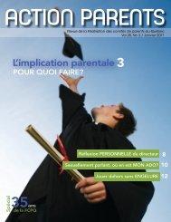 Revue Action Parents Janvier 2011 - Fédération des comités de ...