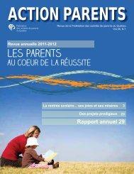 Rapport annuel 2011-2012 - Fédération des comités de parents du ...