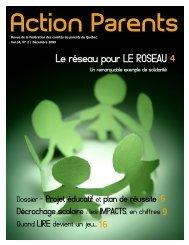 Action Parents 2009-12 - Fédération des comités de parents du ...