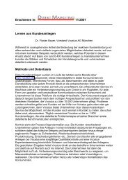 Lernen aus Kundenanliegen - Vocatus AG