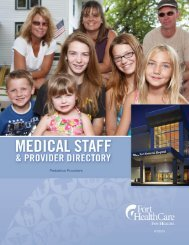 Pediatrics Providers - Fort HealthCare