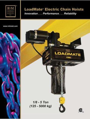 LoadMate® Electric Chain Hoists - CraneWerks.com