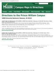 Campus Maps, George Washington University - instructional ...