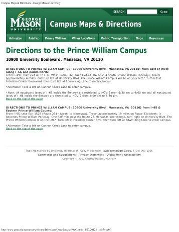 November 9, 2012 - Prince William Campus - George Mason ...