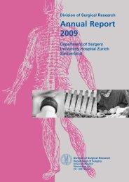 Annual Report 2009 - Klinik für Herz- und Gefässchirurgie ...