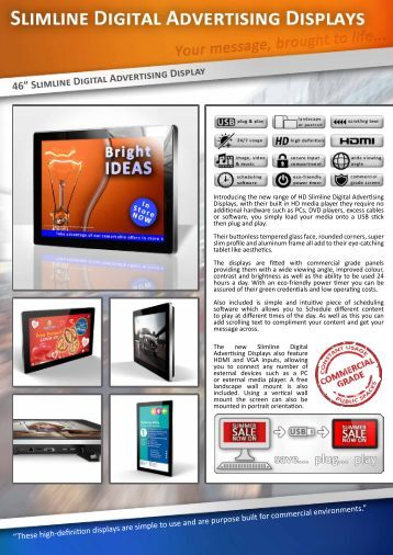 "46"" Slimline Digital Advertising Display"