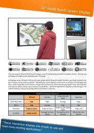 "55"" Multi Touch Screen Display"