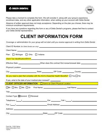Student Emergency Information Form - NC Dental U