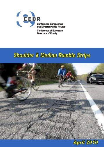 Shoulder and median rumble strips - CEDR
