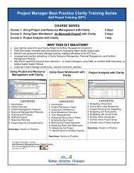 list of Clarity PPM Computer Based Training ... - Digital Celerity