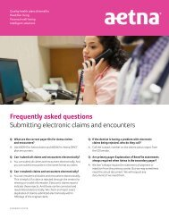 Tips for submitting claims to Aetna - Aetna Dental Public