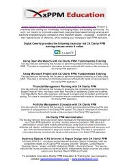 to download CA Clarity PPM Training Series ... - Digital Celerity