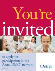 to apply for participation in the Aetna DMO® network - Aetna Dental ...