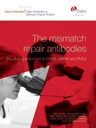 The mismatch repair antibodies - Dako