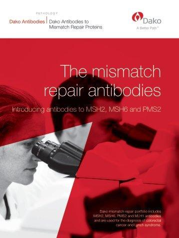 The mismatch repair antibodies - Dako