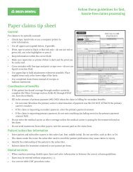 Paper claims tip sheet - Delta Dental Indiana