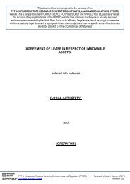 lease agreements for use of (i) immoveable assets - SADC PPP ...