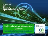 CA World Presentation - Digital Celerity