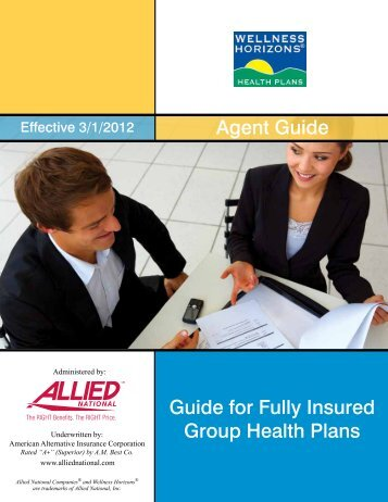 Wellness Horizons Agent Guide - Allied National Companies