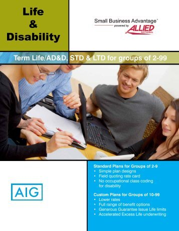 Life and Disability Brochure - Allied National Companies