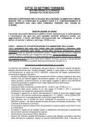 CAPITOLATO SPECIALE D'APPALTO PER IL SERVIZIO DI ...