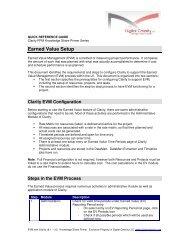 Clarity PPM Earned Value Management Quick ... - Digital Celerity